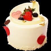 5吋蛋糕-4 純白之戀